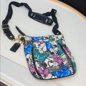 Coach 42603 Satin Butterfly Crossbody Bag Purse